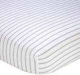 Nautica Mix & Match Striped Fitted Crib Sheet in Grey/White