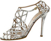 Valentino Metallic Cage Sandals