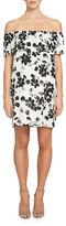 1 STATE Off-The-Shoulder Floral Popover Dress
