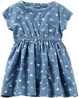 Osh Kosh 2-Piece Chambray Heart Print Dress