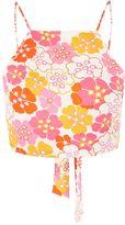 Glamorous Petites **Floral Print Tie Back Top by Glamorous Petite