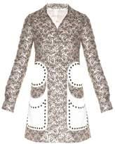 Giambattista Valli Stud-embellished flower bud-jacquard coat