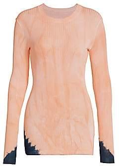 Proenza Schouler Women's Tie-Dye Long Sleeve Sweater