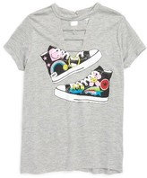 Flowers by Zoe Girl's Tennis Shoe Graphic Tee