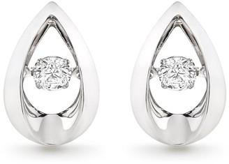 Beaverbrooks Dance 9ct White Gold Diamond Earrings