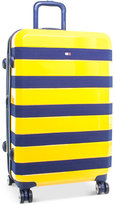 """Tommy Hilfiger Rugby Stripe 28"""" Expandable Hardside Spinner Suitcase"""