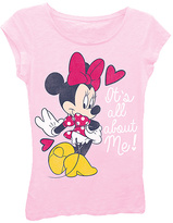 Freeze Light Pink Minnie Mouse Cap-Sleeve Tee - Girls