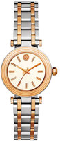 Tory Burch The Classic T Two-Tone Bracelet Watch, Silvertone/Rose-Golden