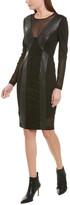 BCBGMAXAZRIA Mesh Sheath Dress