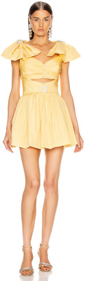 RAISA&VANESSA Ribbon Shoulder Mini Dress in Yellow | FWRD