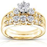 Kobelli Jewelry 1 1/5 CT TW Diamond 14K Gold Bridal Set
