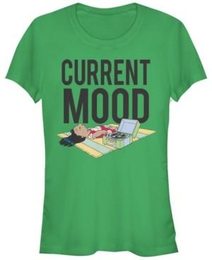 Fifth Sun Women's Disney Lilo Stitch Current Mood Lilo Short Sleeve T-shirt