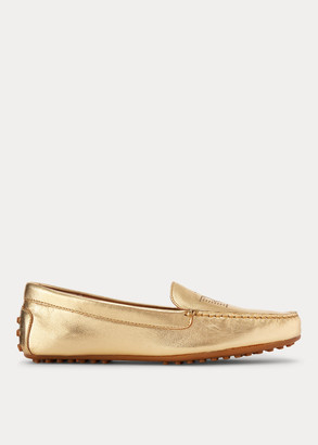 Ralph Lauren Bartlett Leather Flat