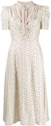 L'Autre Chose printed midi dress