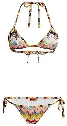 Missoni Mare Two-Piece Chevron Tie Bikini Set