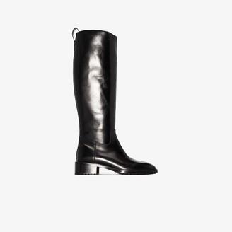 AEYDĒ Black Tammy 40 Leather Riding Boots