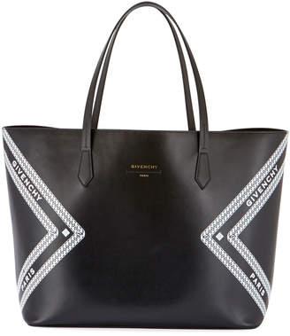Givenchy Wing Smooth Logo Shopping Tote Bag