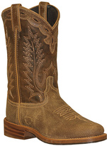 Brown & Tan Distressed Leather Cowboy Boot