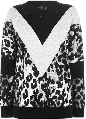 Religion Crown Leopard Print Jumper
