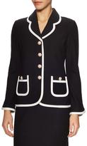 St. John New Wool Boucle Colorblocked Jacket