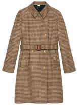 Reversible check trench coat