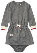 Ralph Lauren Baby Girls Heathered Raglan Sleeve Dress