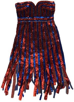 Elisabetta Franchi Blue Glitter Skirt for Women