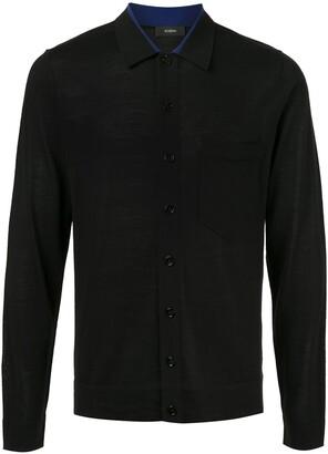 Joseph button-front knitted shirt
