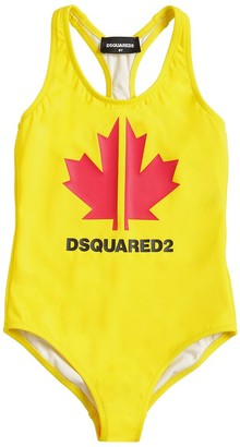 DSQUARED2 Logo Printed Lycra One Piece Swimsuit