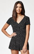 KENDALL + KYLIE Kendall & Kylie Button-Front Short Sleeve Romper