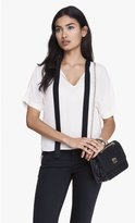 Express Tie Front Short Sleeve Blouse