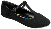 Soda Sunglasses Black T-Strap Laura Ballet Flat