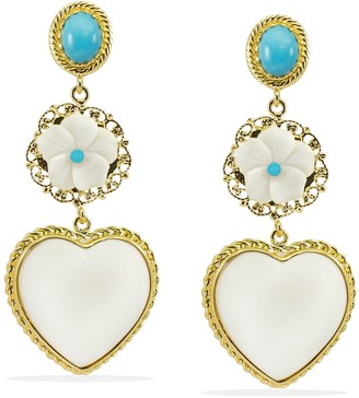Vintouch Italy Mamma Mia Turquoise Statement Earrings