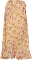 Banjanan Wrap Printed Cotton Maxi Skirt