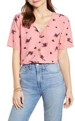 Nordstrom Something Navy Easy Woven Top Exclusive)