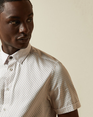Ted Baker SORTIT Cotton geo print shirt
