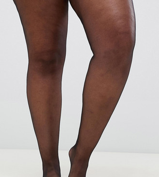 ASOS DESIGN Curve 2 pack new improved fit 15 denier tights