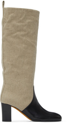 Maryam Nassir Zadeh Beige Ivy Tall Boots