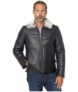 Andrew Marc Lenox Faux Leather Jacket with Faux Fur Lining