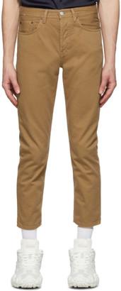 Acne Studios Brown Cotton Twill Jeans