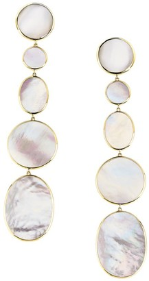 Ippolita Polished 18K Yellow Gold & Mother-Of-Pearl Earrings