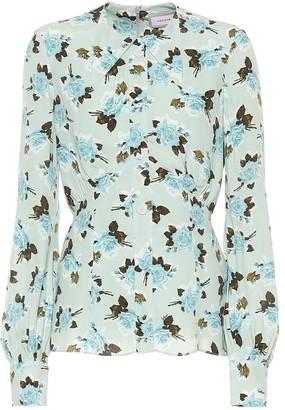 Erdem Zoey floral crepe shirt