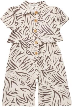 Jessica Simpson Zebra Print Jumpsuit