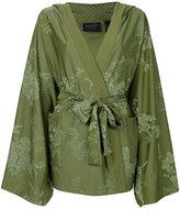 Puma embroidered kimono - women - Polyester/Spandex/Elastane - XS
