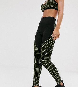 South Beach seamless leggings in black with neon polka dots