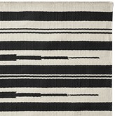 Williams-Sonoma Williams Sonoma Aura Stripe Indoor/Outdoor Rug, Black