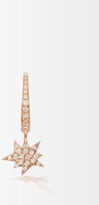 Diane Kordas Explosion-charm 18kt Rose-gold Single Earring - Womens - Gold