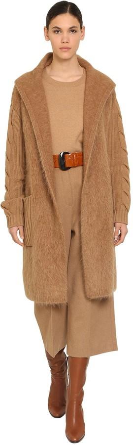 Max Mara Oversized Cashmere Mohair Blend Coat
