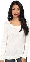 Townsen Women's Leo Carillo Satin L/S Top Cream T-Shirt