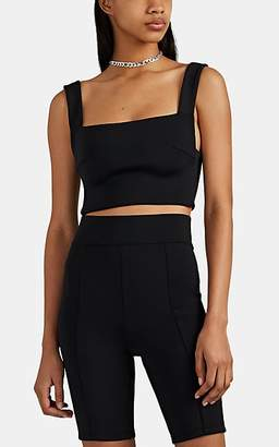 Ksubi Kendall Jenner for Women's Neoprene Jersey Crop Top - Black